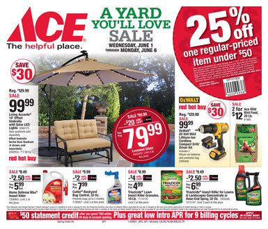 Shop Ace sale items and specials and get Free Store Pickup at your neighborhood Ace. Buy the latest online deals & pickup today. Ace Hardware Sales and Specials - Ace Hardware.